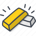 bar, business, gold, silver, trading icon