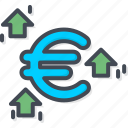 business, currency, euro, trading icon