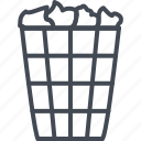 basket, can, office, trash, work icon