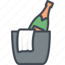 beverage, bucket, champagne, ice, restaurant, service icon