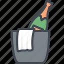 beverage, bucket, champagne, ice, restaurant, service icon