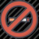 no, restaurant, service, sing, smoking icon