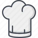 chef, hat, restaurant, service icon
