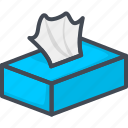 box, napkin, restaurant, service, tissue icon