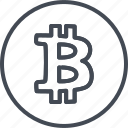 bitcoin, business, crypto, currency, trading icon