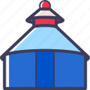 building, mongolia, structure, yurt icon