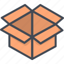 box, delivery, opened, service, work icon