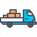 box, car, delivery, service, truck, vehicle, work icon