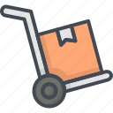 cart, delivery, service, truck, work icon