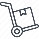 cart, delivery, service, track, work icon