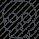 halloween, holiday, skull icon