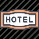 hotel, service, sign icon