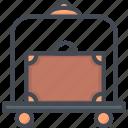 bellhop, hotel, room, service icon