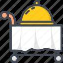 food, hotel, lid, room, service icon