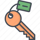 hotel, key, room, service, sign icon