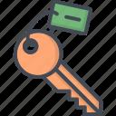 hotel, key, room, service, sign icon