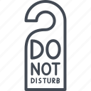 do not disturb, hotel, service, sign icon