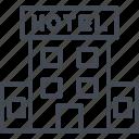 building, hotel, service icon