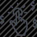 arrow, business, click, money, mouse, seo, web icon