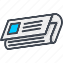 contacts, news, newspaper, paper, service, support icon
