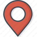 contacts, map, pin, service, support icon
