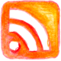 pencil, rss icon
