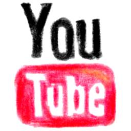 pencil, youtube icon