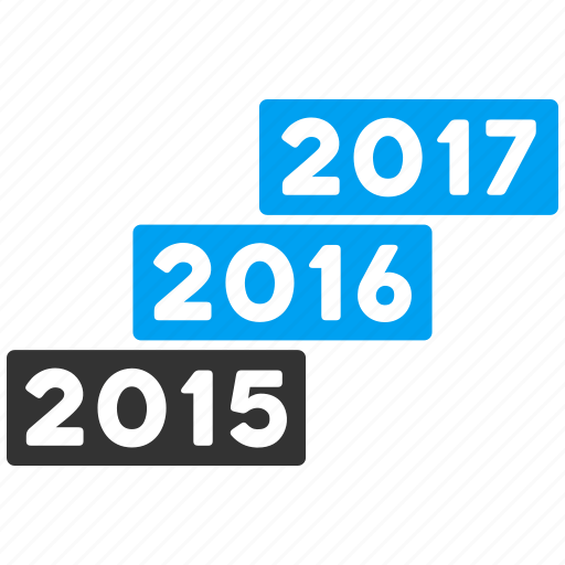 annual, levels, progress, staircase, stairs, year 2016, years icon