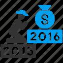 finance, pray, money bag, religion, deposit, prayer, year 2016 icon