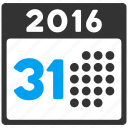 appointment, 31 days, schedule, month, last day, calendar, year 2016 icon