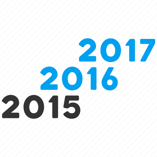 2016, 2017, annual, calendar, future, level, years icon