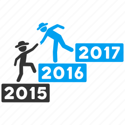 annual, business help, education, gentleman, learning, training, year 2016 icon