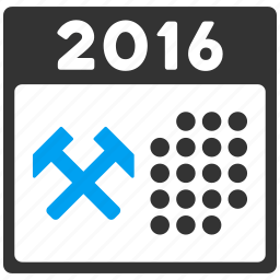 appointment, business, schedule, service, work, working days, year 2016 icon