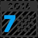 week, time table, schedule, grid, calendar, organizer, year 2016 icon