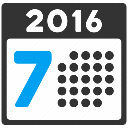 calendar, grid, organizer, schedule, time table, week, year 2016 icon