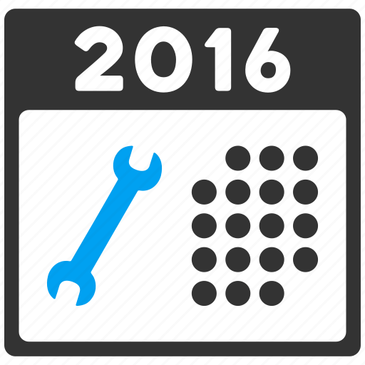 appointment, business, calendar, month, schedule, service, year 2016 icon