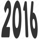 new year, text, label, future, perspective, message, year 2016 icon