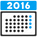 appointment, time table, schedule, month, calendar, organizer, year 2016 icon