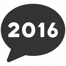 chat, comment, communication, letter, message, social, year 2016 icon