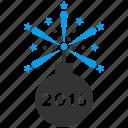 bomb, detonator, festival, fire, fireworks, petard, year 2016 icon