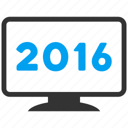 computer, desktop, display, monitor, pc, screen, year 2016 icon