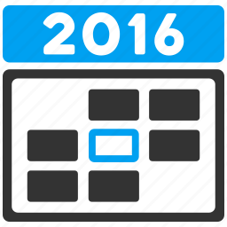 appointment, calendar, date, day, plan, time table, year 2016 icon