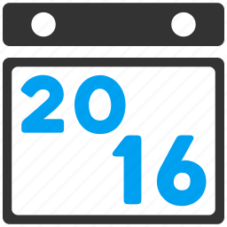 appointment, calendar, diary, page, poster, schedule, year 2016 icon