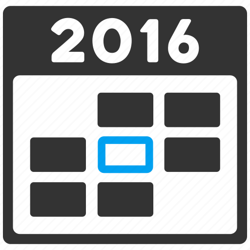 appointment, calendar, date, day, schedule, time table, year 2016 icon