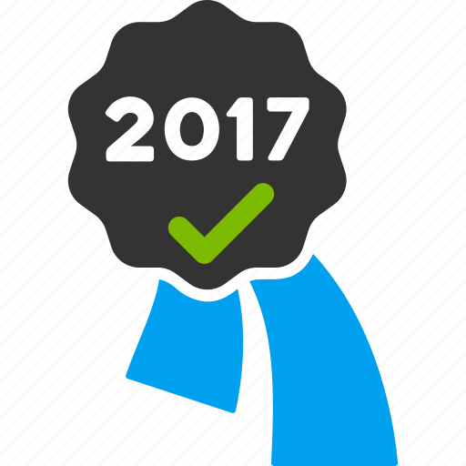 2017 year, approve, award, best, prize, reward, trophy icon