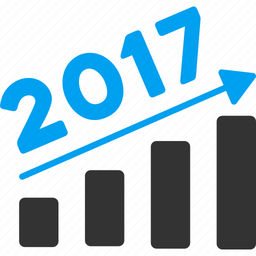 2017 year, data analysis, diagram, graph, report, statistics, trend chart icon