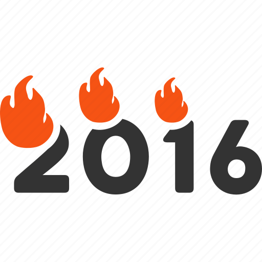 burn letters, caption, fire, fired, heat, hot flame, year 2016 icon