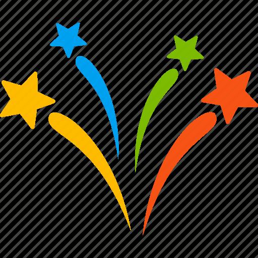 2017 year, burst, explosion, firecracker, fireworks, salute, sparkle boom icon