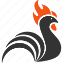 chicken, cock, cockerel, domestic, hen, poultry, rooster icon