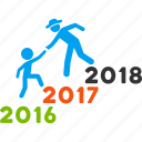 annual, business help, education, guys, learning, training, years icon